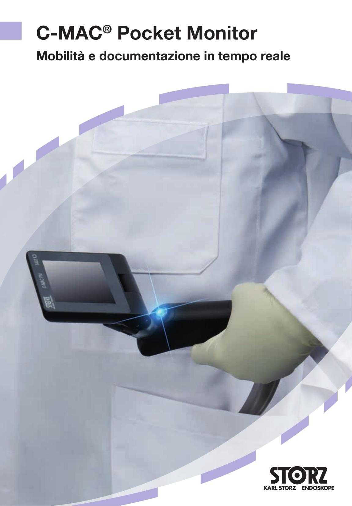 Anestesia e medicina d'emergenza - C-MAC® Pocket Monitor – Mobilità e documentazione in tempo reale