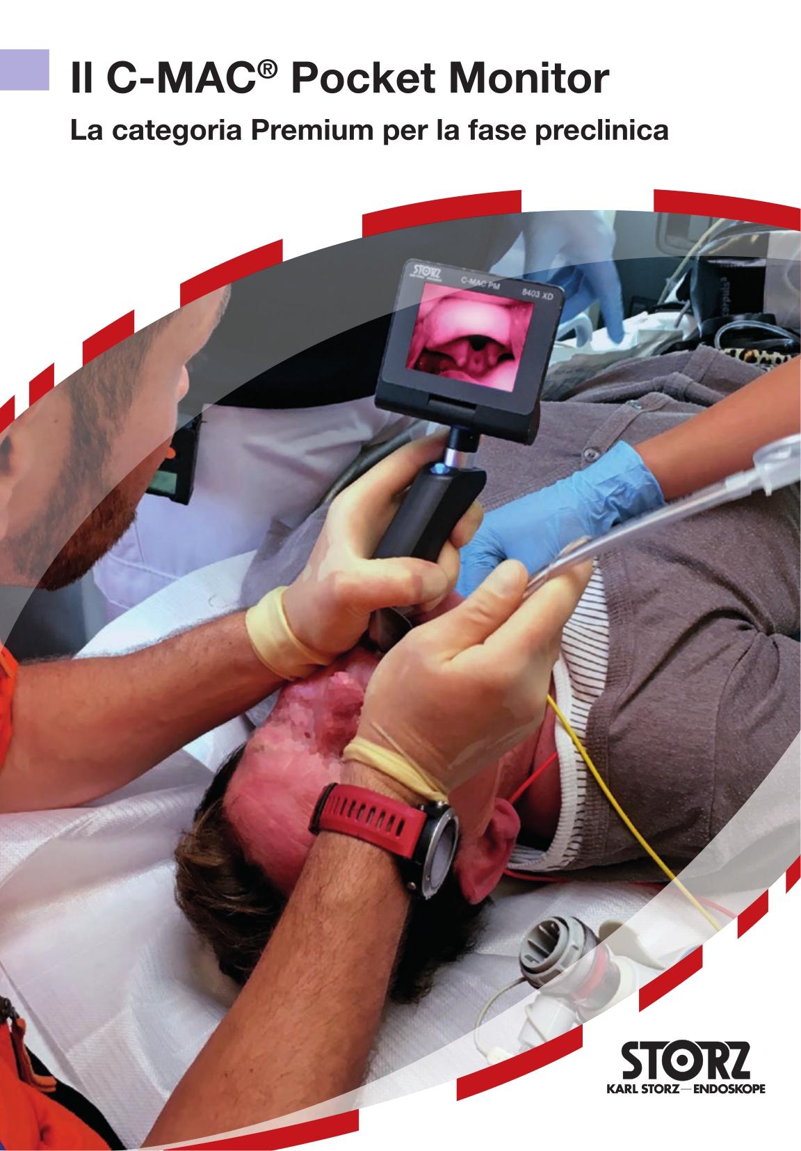 Anestesia e medicina d'emergenza - Il C-MAC® Pocket Monitor – La categoria Premium per la fase preclinica